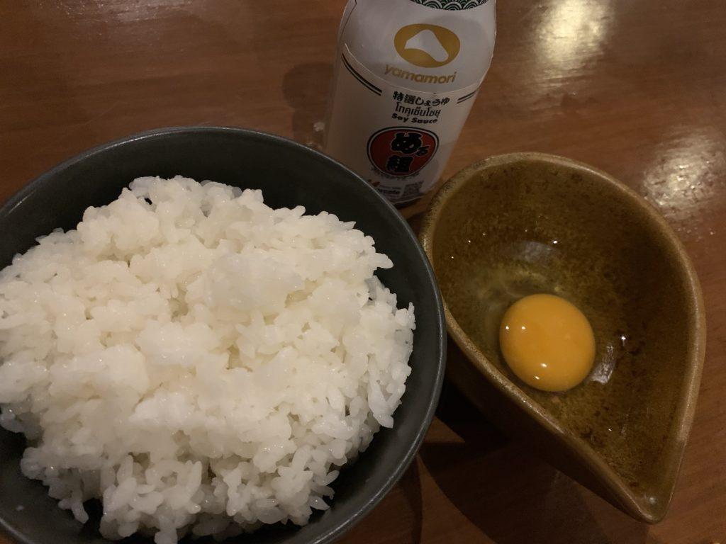 大升シーロム店 卵かけご飯