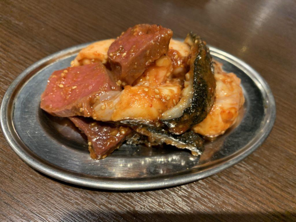 大阪焼肉バカ一代 ホルモン4種盛り