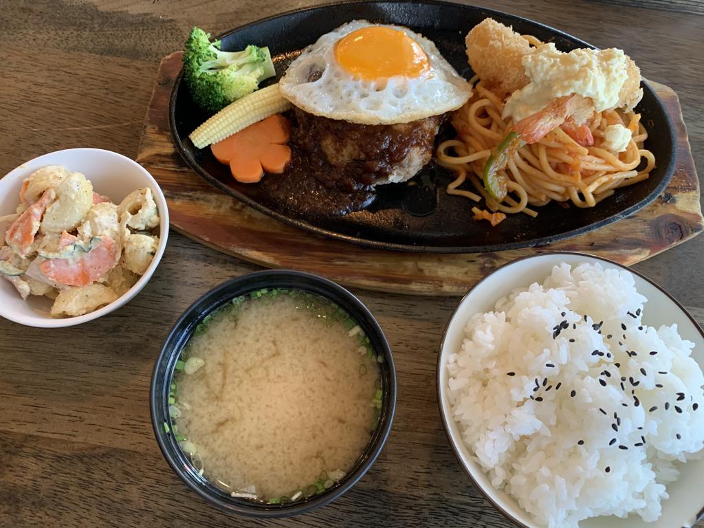 昭和のハンバーグステーキ セット