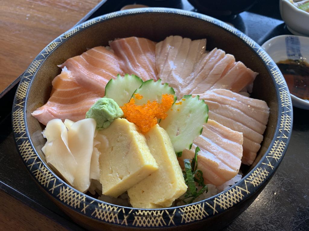 水琴 漬け&炙りサーモン丼