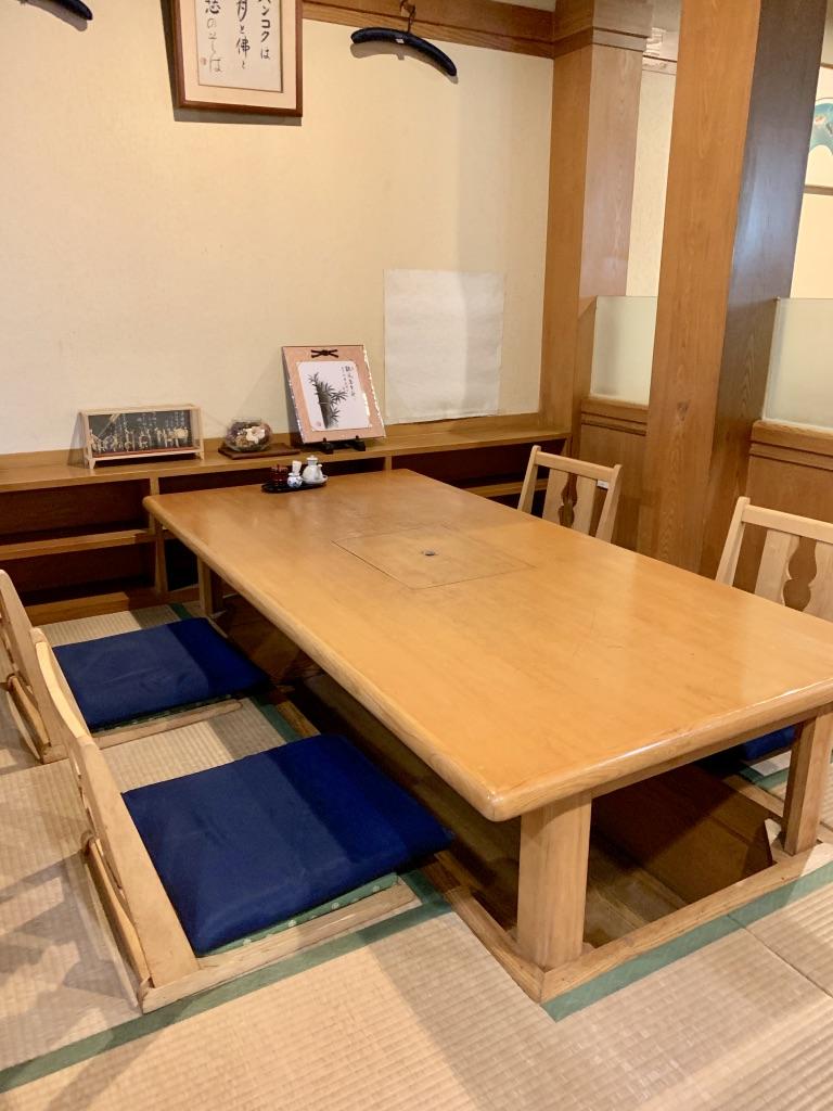 一芯 テーブル席